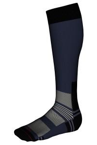 Mi-bas Randonnée Sans couture Coolmax® Homme Labonal couleur marine
