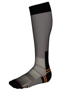 Mi-bas Randonnée Sans couture Coolmax® Homme Labonal couleur gris