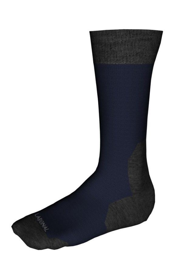 Mi-chaussettes Randonnée laine Coolmax® Labonal couleur Marine
