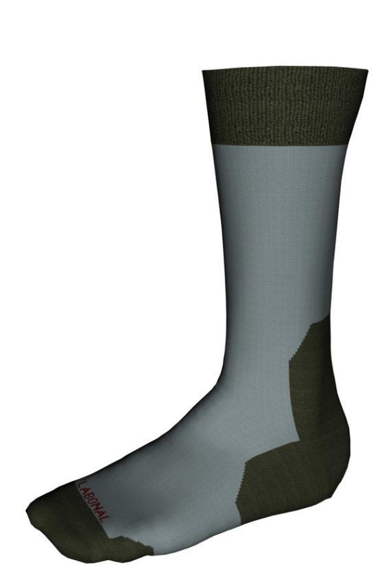 Mi-chaussettes Randonnée laine Coolmax® Labonal couleur Ardoise