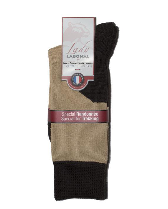 Mi-chaussettes Randonnée laine Coolmax® Femme