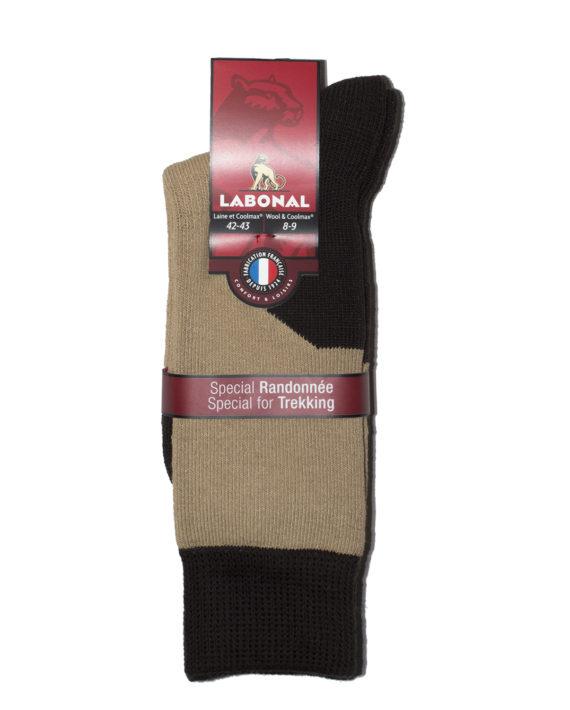 Mi-chaussettes Randonnée laine Coolmax® Labonal couleur Granit ok