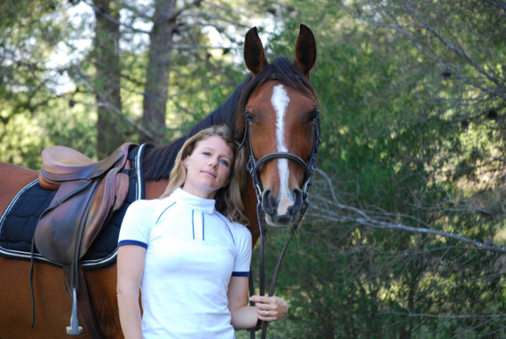 Polo de concours pour cavalière Calypso