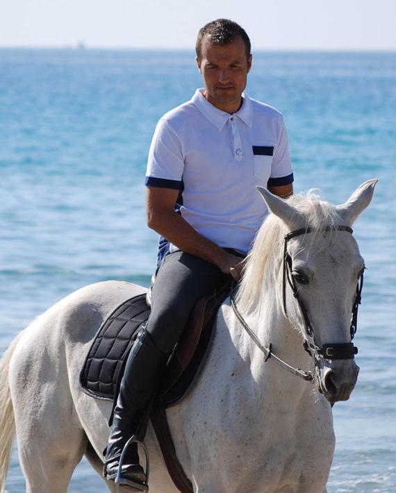 Polo de concours en coton bio pour homme