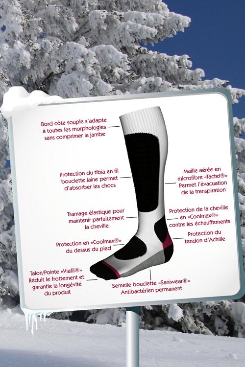 Mi-bas Ski technique Femme