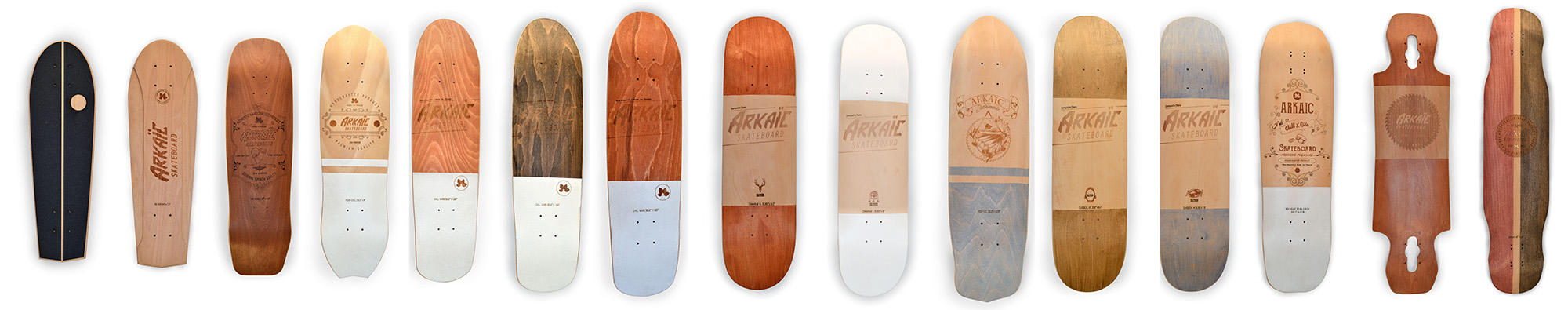 arkaic concept gamme skateboards