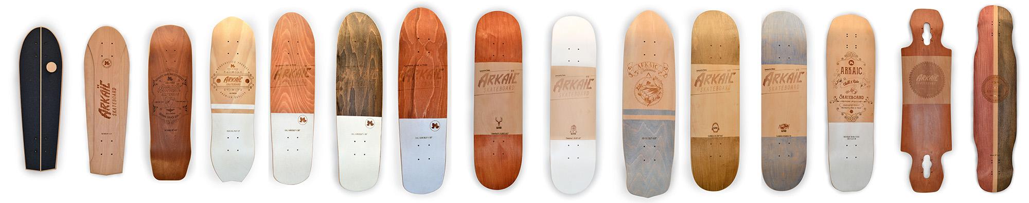 arkaic concept gamme skateboards