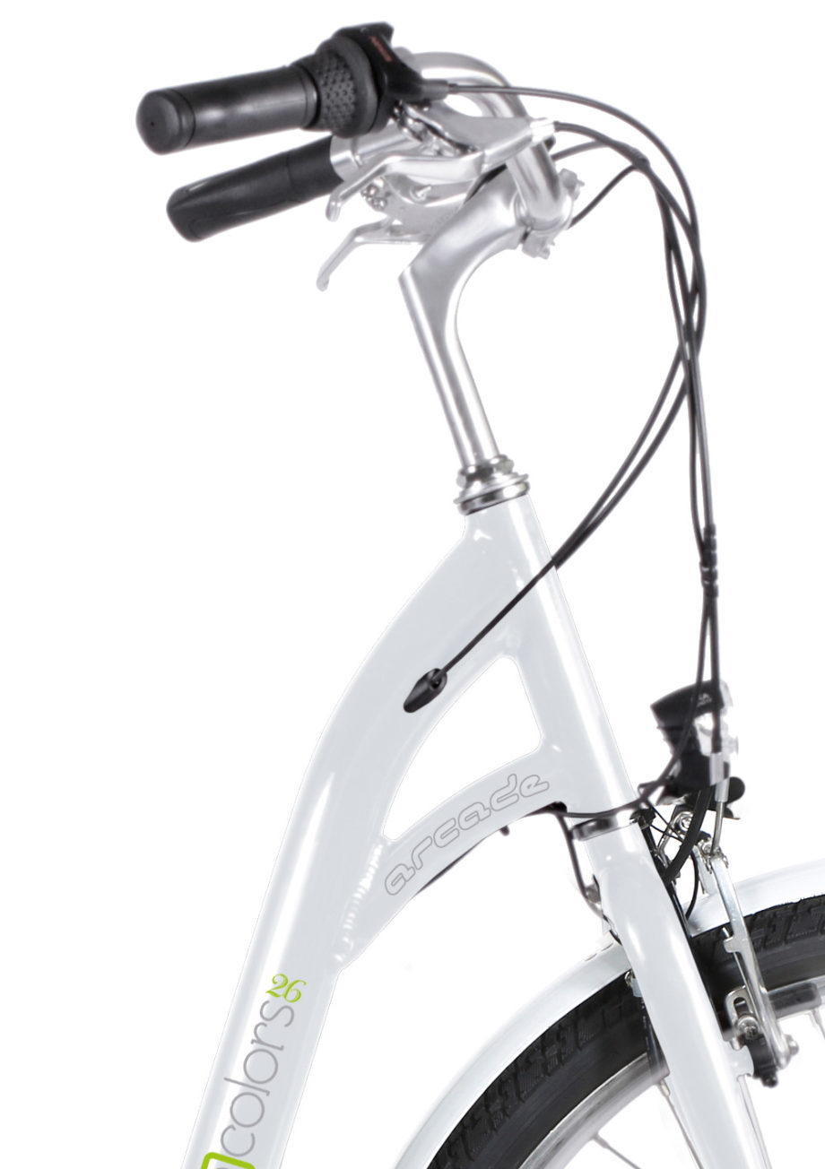VAE E-colors Blanc Arcade Cycles made in France