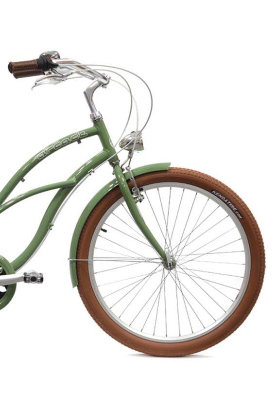 Velo_Beach_Coaster_femme_Vert_ARCADE_CYCLES_avant