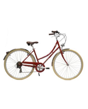 Vélo de ville Coffee S6 Bordeaux femme
