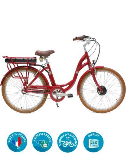 VAE vélo électrique E-colors Rouge