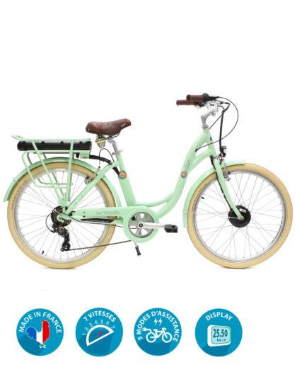 VAE Vélo électrique E-colors 7V Vert by Arcade Cycles