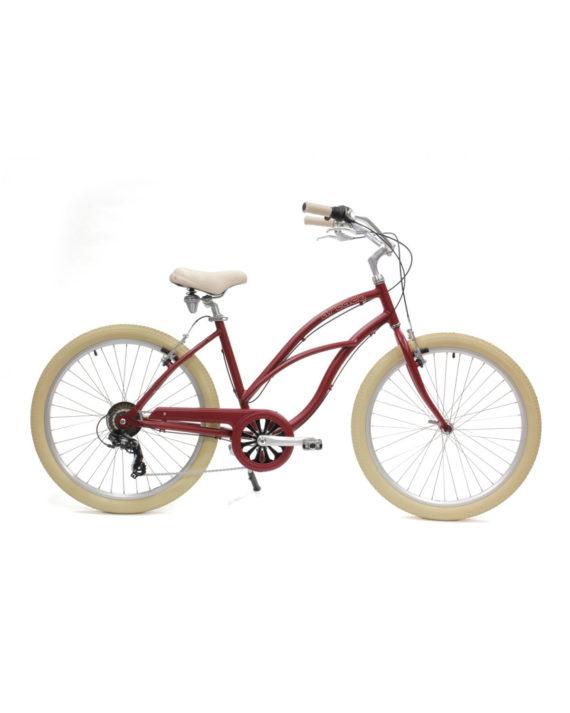 Vélo Beach Coaster Femme rouge Arcade Cycles -My Green Sport