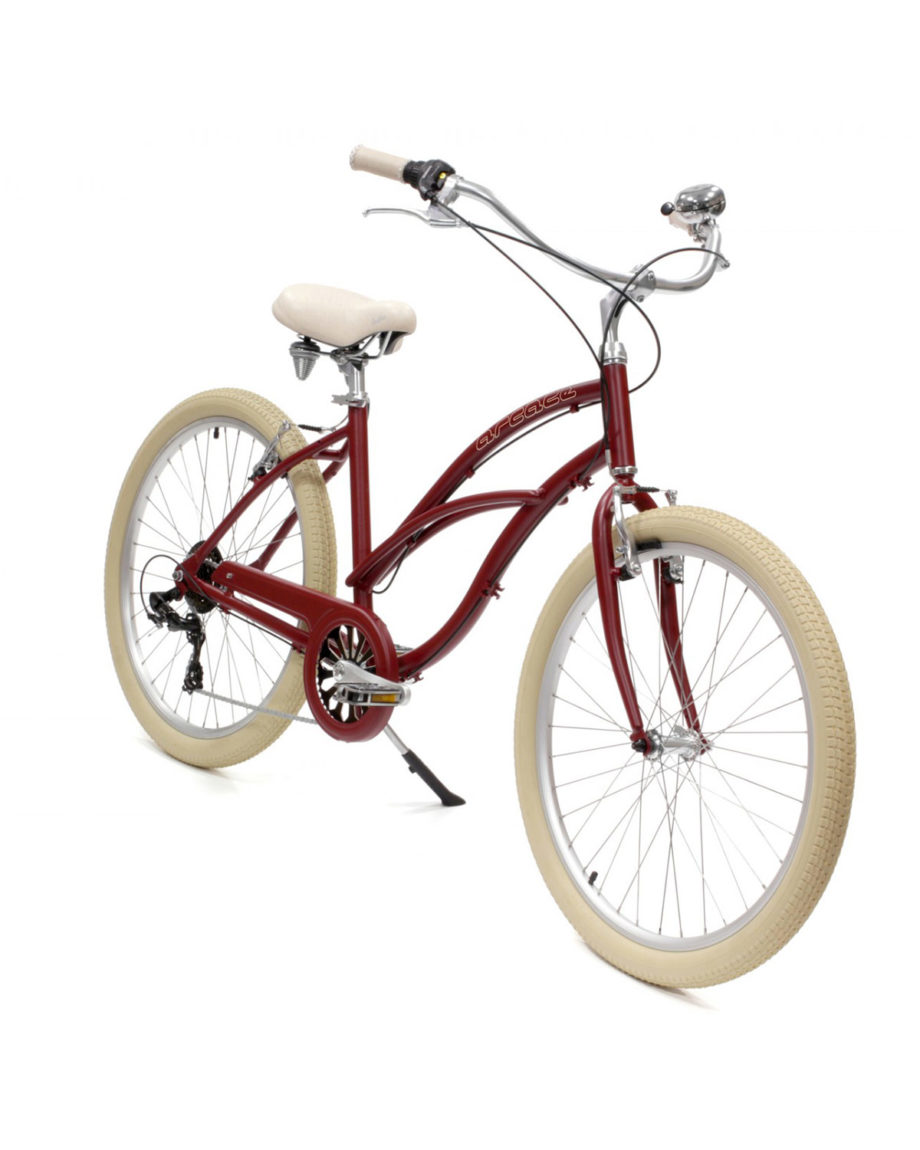 Vélo Beach Coaster Femme rouge Arcade Cycles -My Green Sport