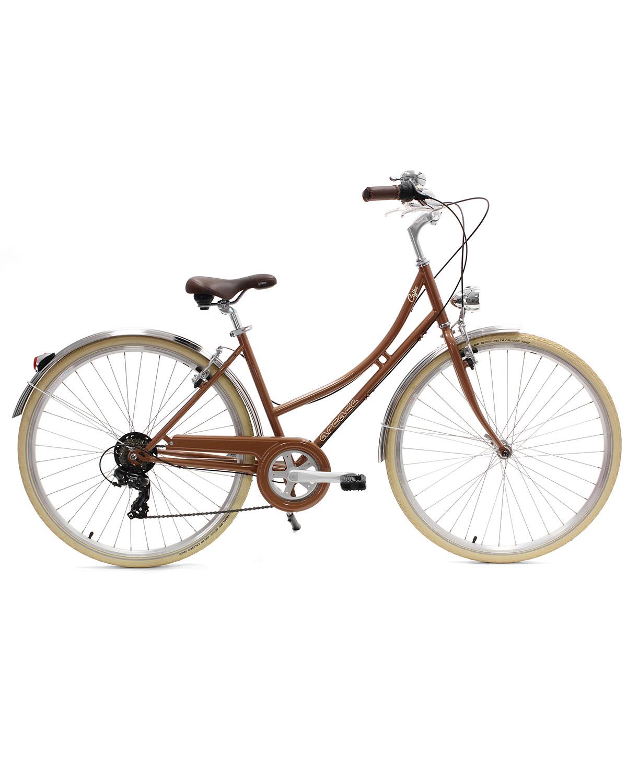 vélo ville femme coffee S6 cuivre arcade cycles
