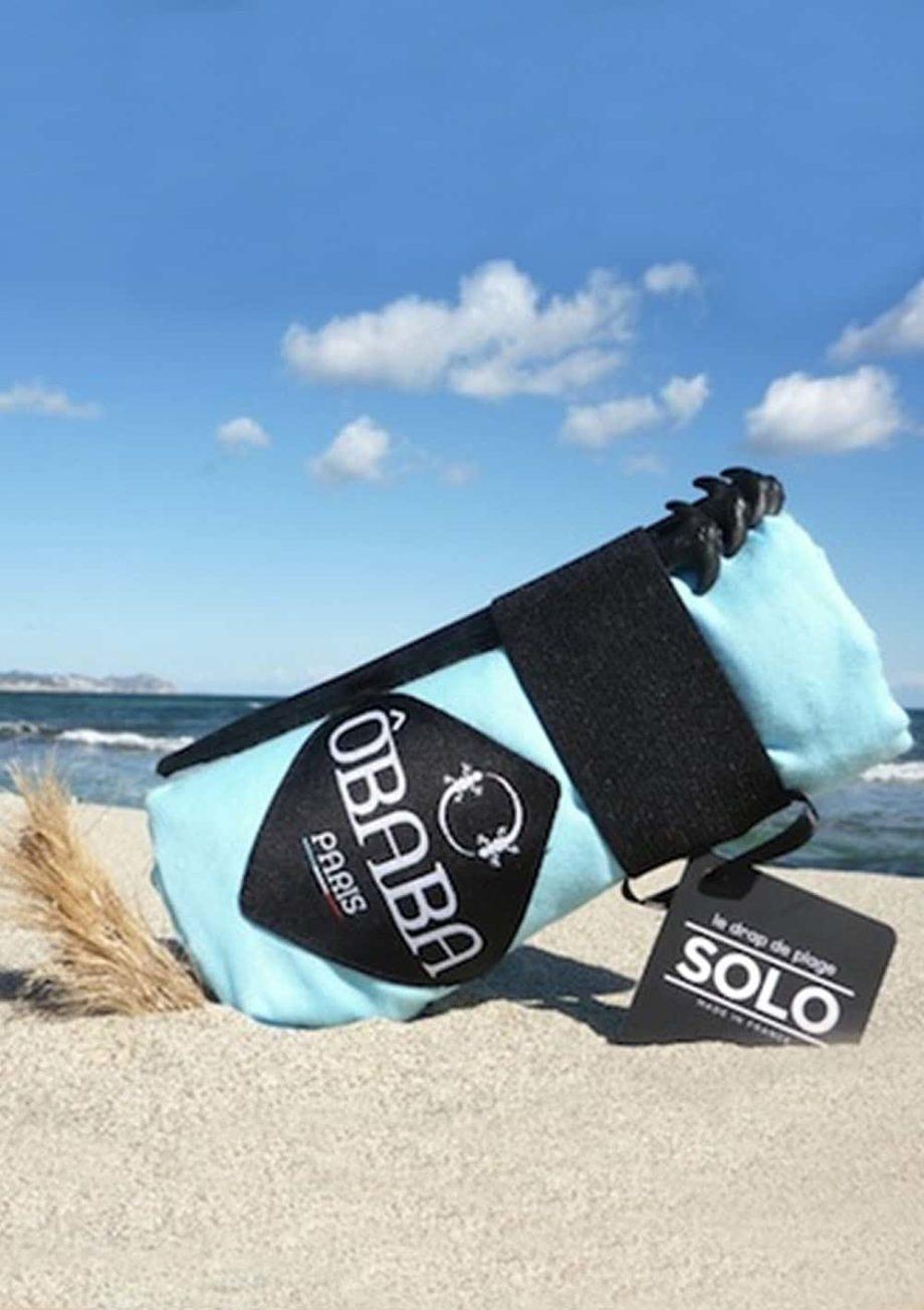 Drap de plage solo Obâba Paris la serviette de plage qui ne s'envole pas