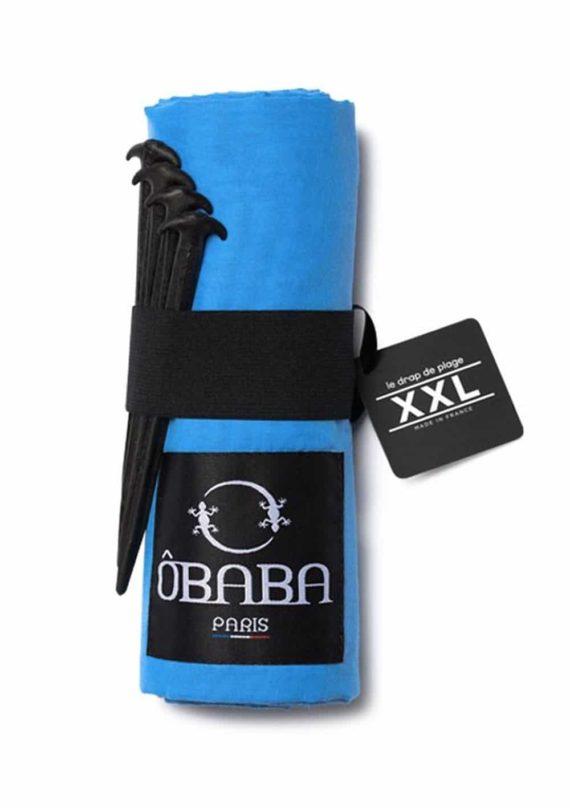 Drap de plage XXL Obâba Paris la serviette de plage qui ne s'envole pas