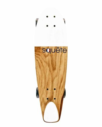 Skateboard type Cruiser Blanc Squête 100% made in France