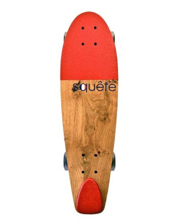 Skateboard type Cruiser Rouge Squête 100% made in France