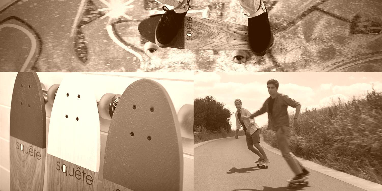 Fabrication des Skate Squête 100% fait main made in France en Bois