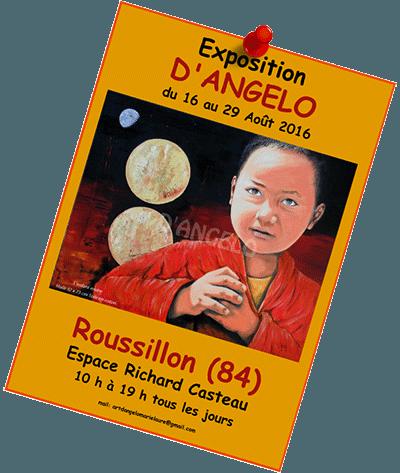 exposition de Marie Laure D'Angelo à Roussillon (84) aout 2016