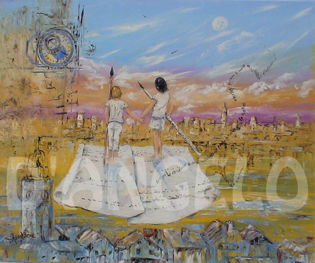 """Marie Laure d'Angelo artiste peintre """"Les messagers"""""""