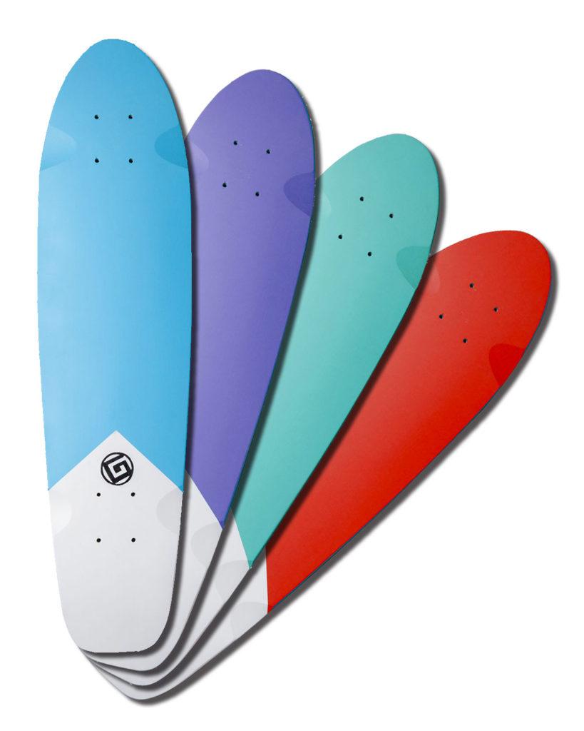 Skateboard Cruiser Color violet by Goldfinger