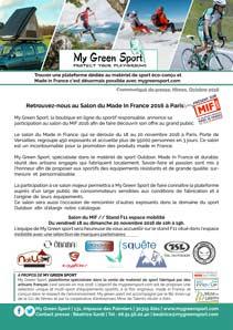 My Green Sport présent au salon du Made in France 2016