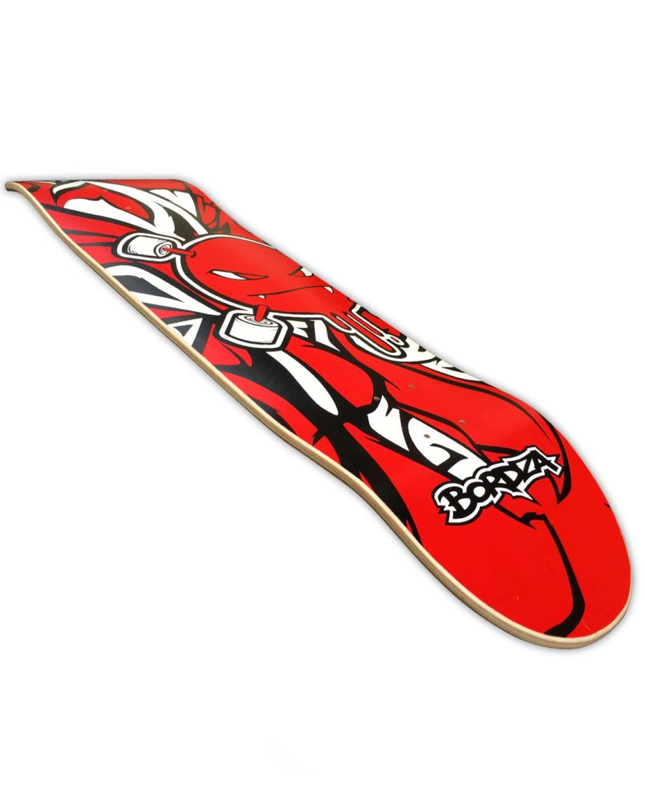"Skateboard Curlzone rouge 8,6"" Bordza longboard skatepark freestyle Bordza"