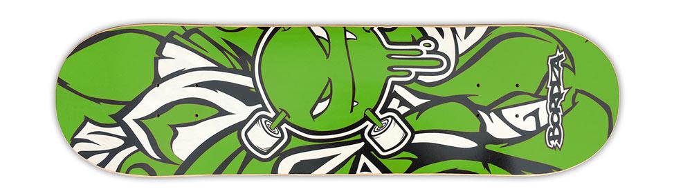 """Skateboard Curlzone vert 8"""" Bordza longboard skatepark freestyle"""
