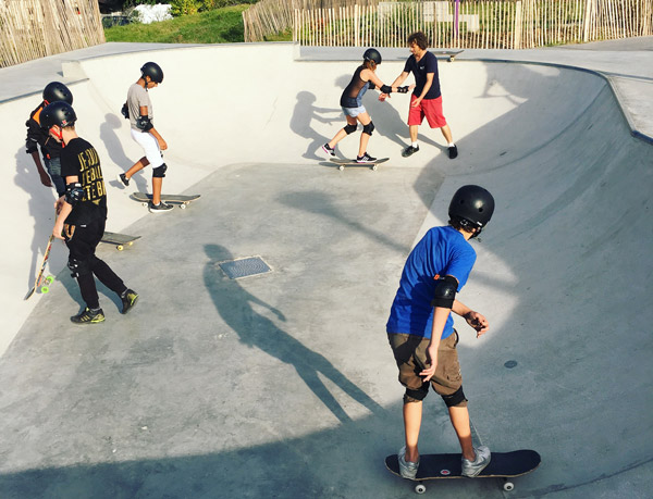 Borza cours de skate en skatepark