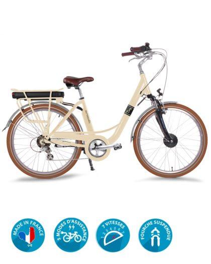 vélo électrique easy crème arcade cycles
