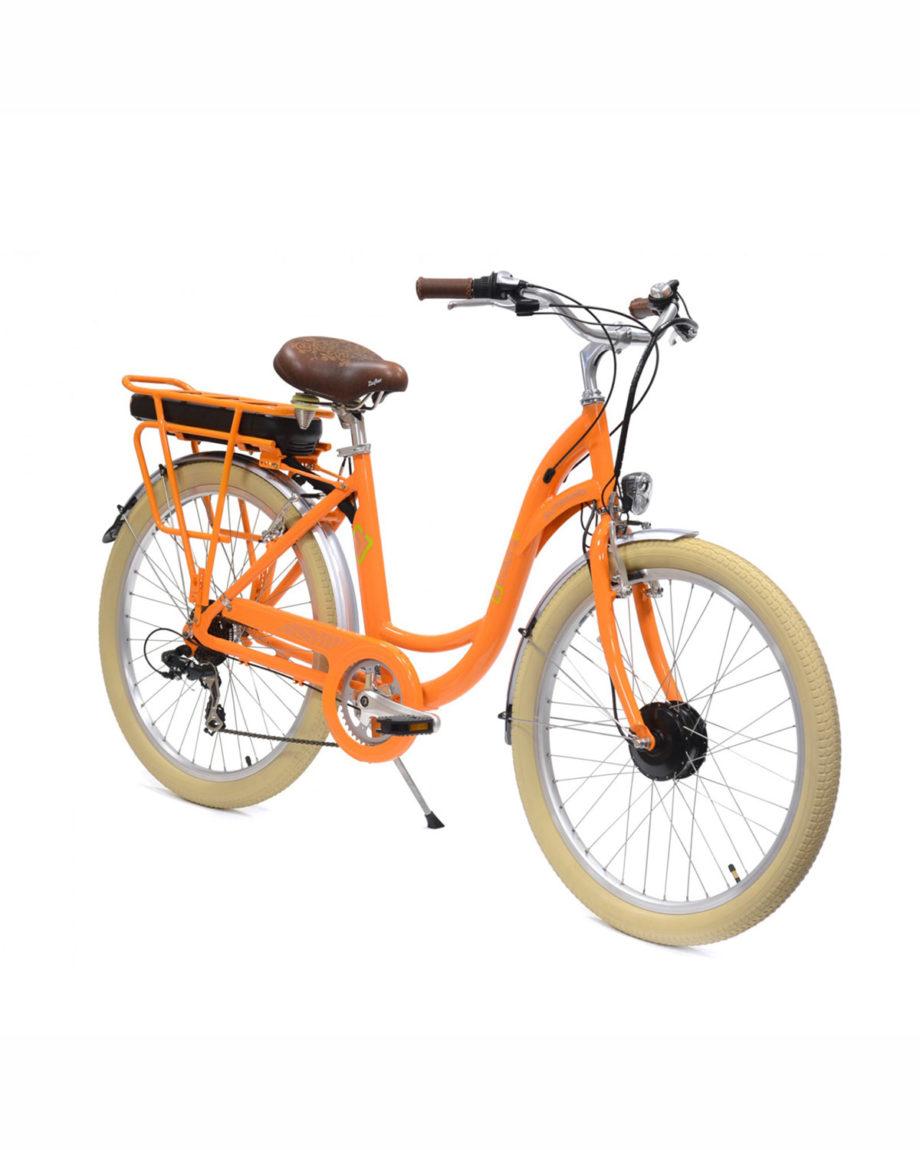 VAE vélo électrique E-colors Mandarine by Arcade Cycles