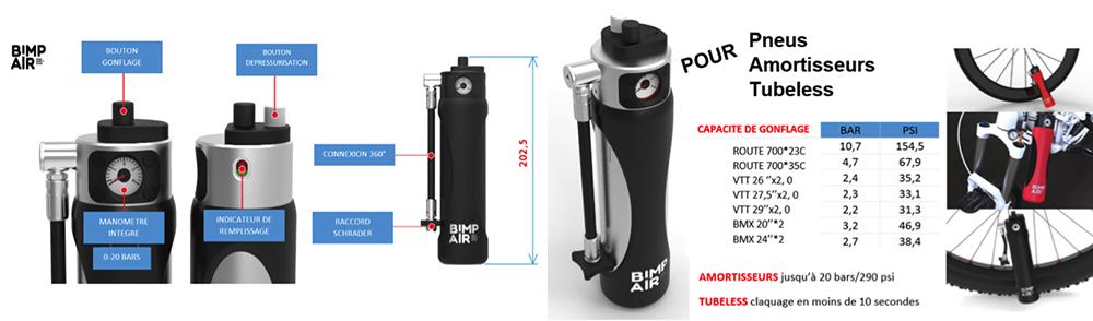 Montage du système de gonflage autonome et nomade Bimp'air pack origin