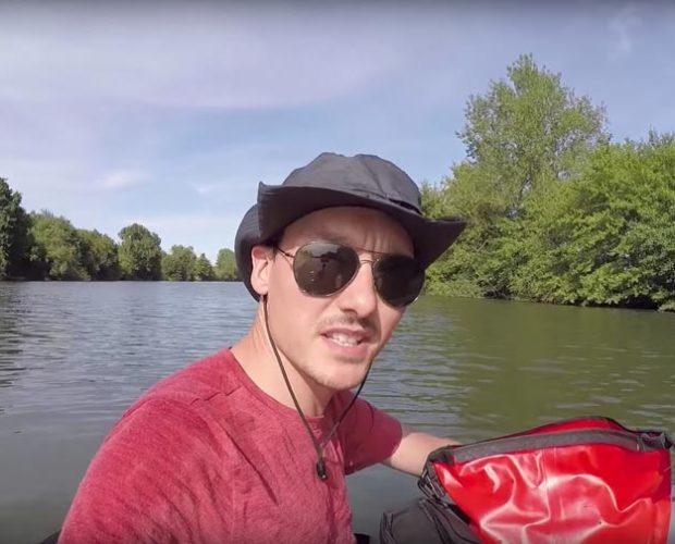 230km en kayak pour ramasser nettoyer la rivière
