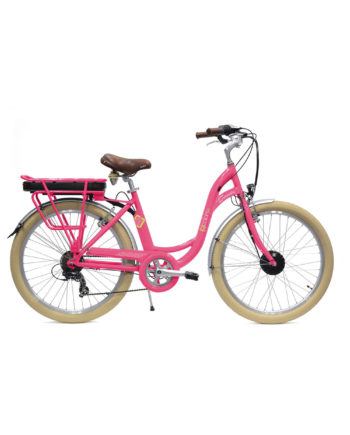 VAE Vélo électrique E-colors Rose Arcade cycles Made in france