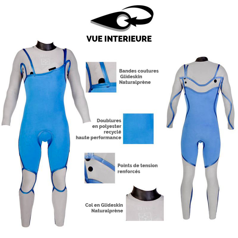 Combinaison Surf BIG Naturalprène 4/3mm Zip-Free Soöruz combinaison de surf eco-friendly wetsuit