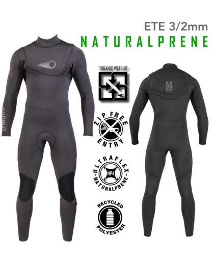 Combinaison Surf BIG Naturalprène 3/2mm Zip-Free Soöruz combinaison de surf eco-friendly wetsuit