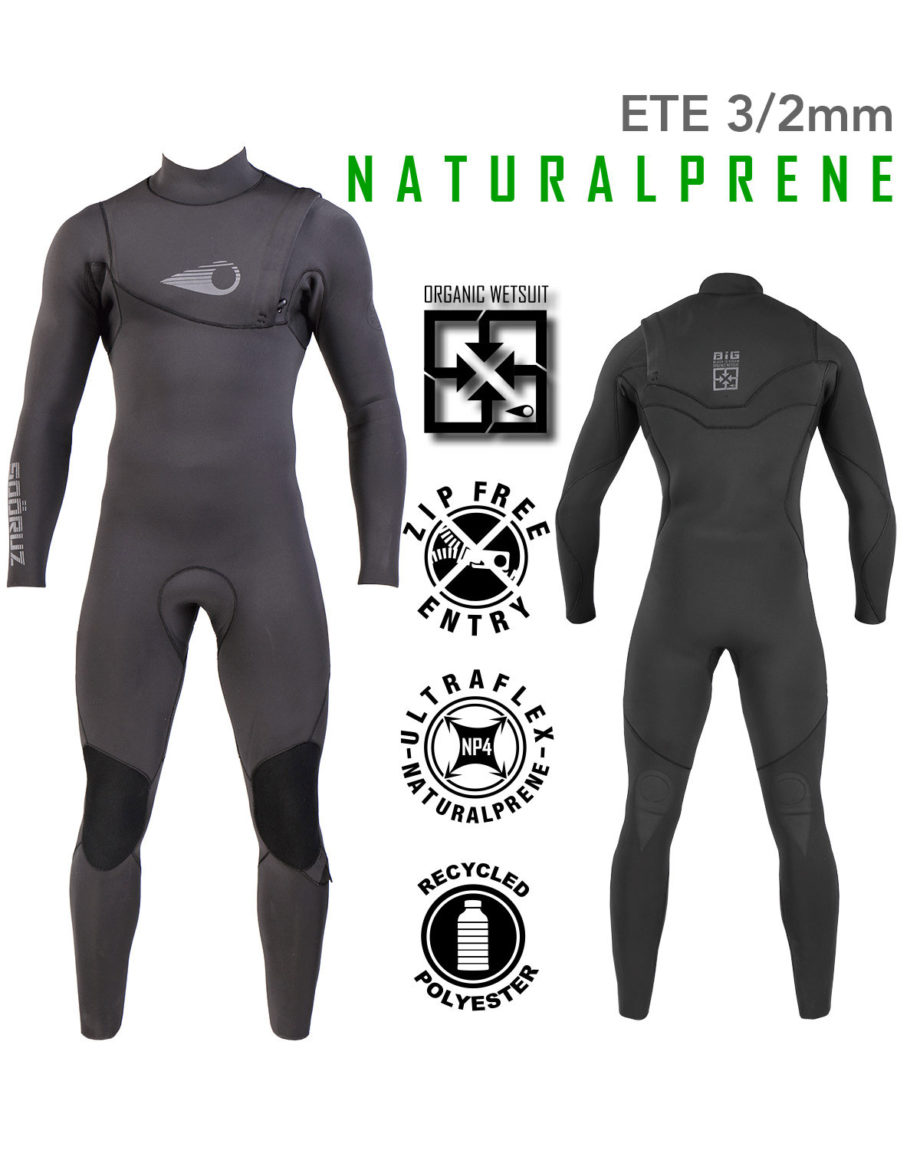 Combinaison Surf BIG Naturalprène 3/2mm Zip-Free Soöruz combinaison de surf eco-friendly wetsuit