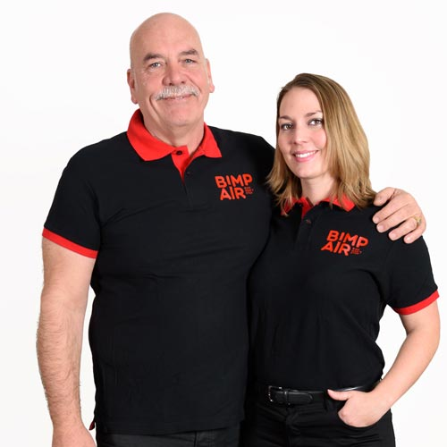 Marcello Aghilone et sa fille Nancy Aghilone fondateur de BimpAir