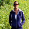 Sweat femme réversible marine/gris en coton biologique Velika by Cavalétic