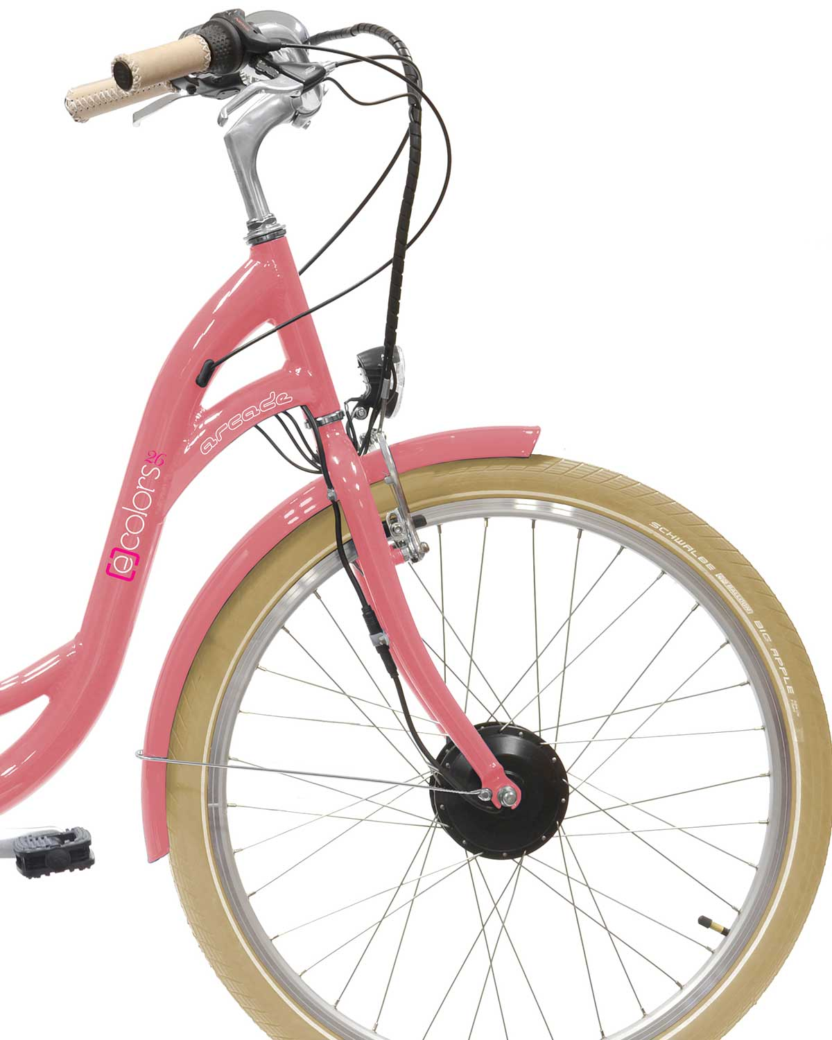 VAE Velo electrique E-colors Rose 7V by Arcade Cycles