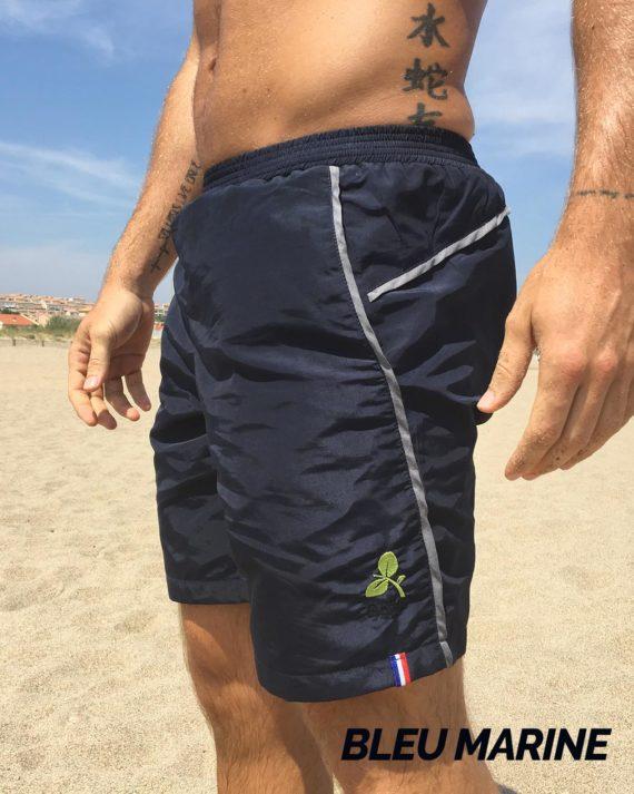 short bain et sport homme boija bleu marine made in france éco-conçu