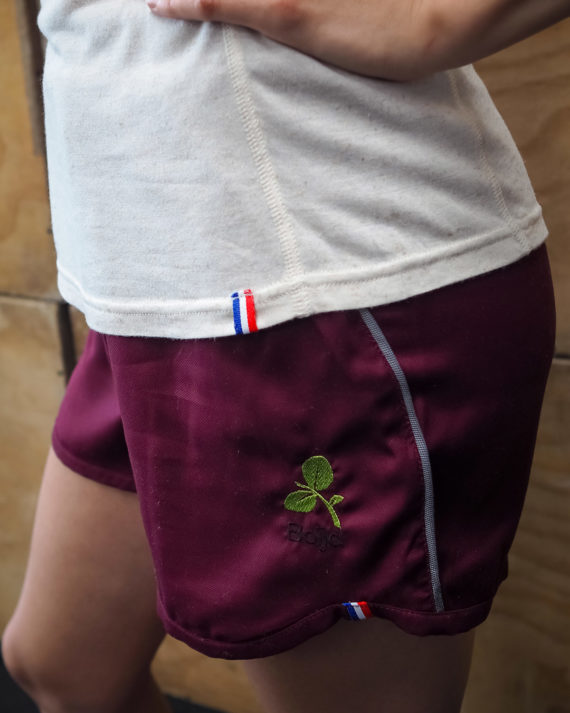 short sport technique femme boija bordeaux made in france éco-conçu
