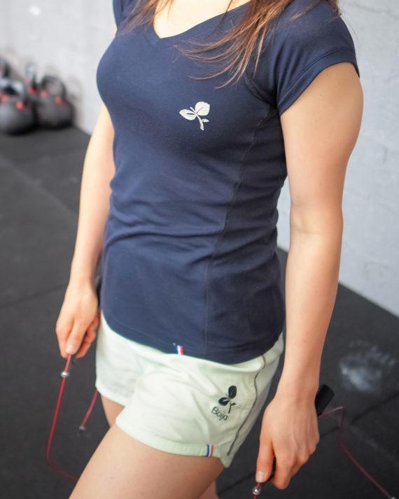 short sport technique femme boija vert pistache made in france éco-conçu