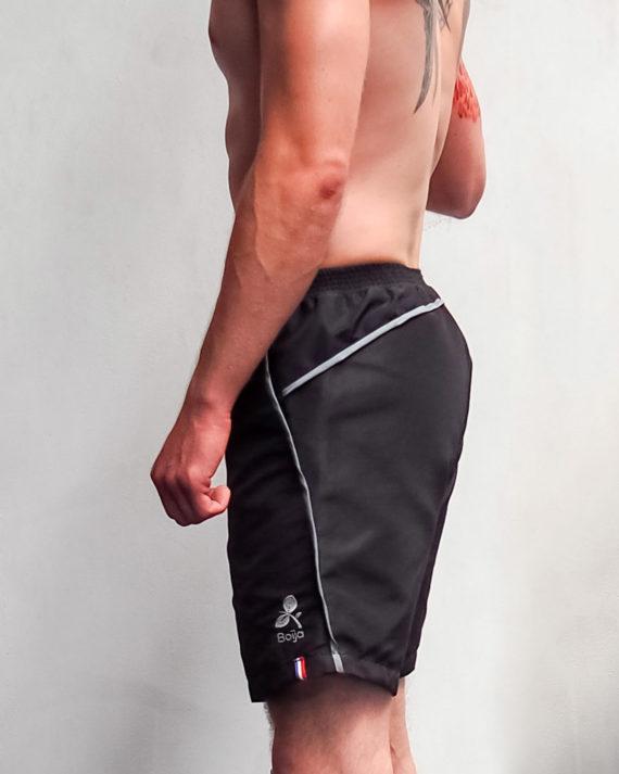 short sport technique homme boija noir made in france éco-conçu