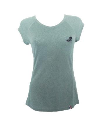 t-shirt yoga femme boija aqua made in france éco-conçu