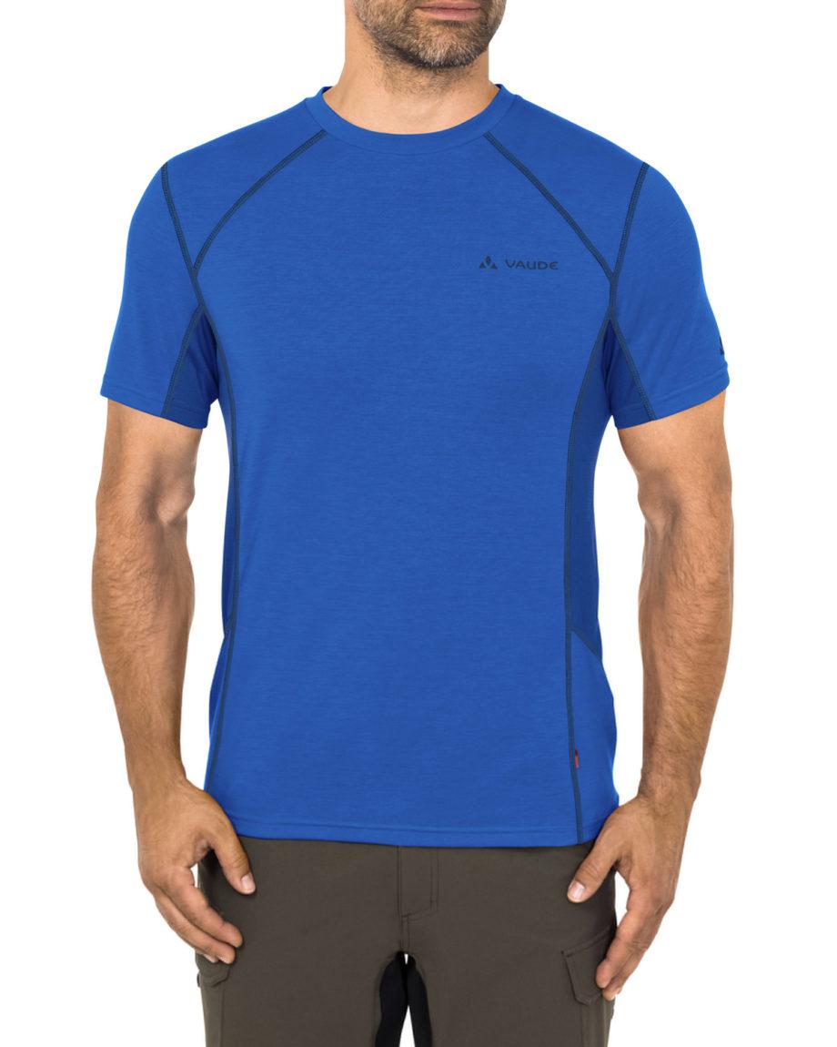 Tshirt technique Sport Homme manches courtes me signpost bleu Vaude