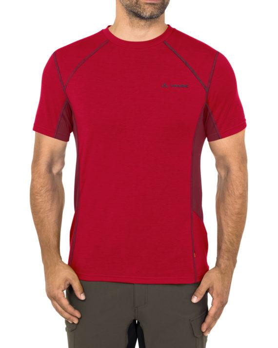 Tshirt technique Sport Homme manches courtes me signpost rouge Vaude