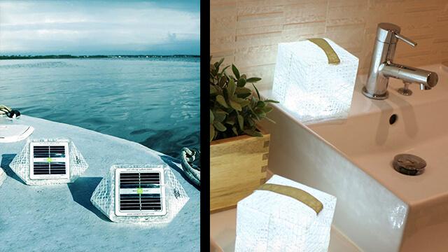 lampe recyclée solaire solarpuff lampe solaire solarpuffjardin deco